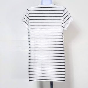 Lulu's Dresses - LuLus Cafe Society Black & Cream Striped Dress S